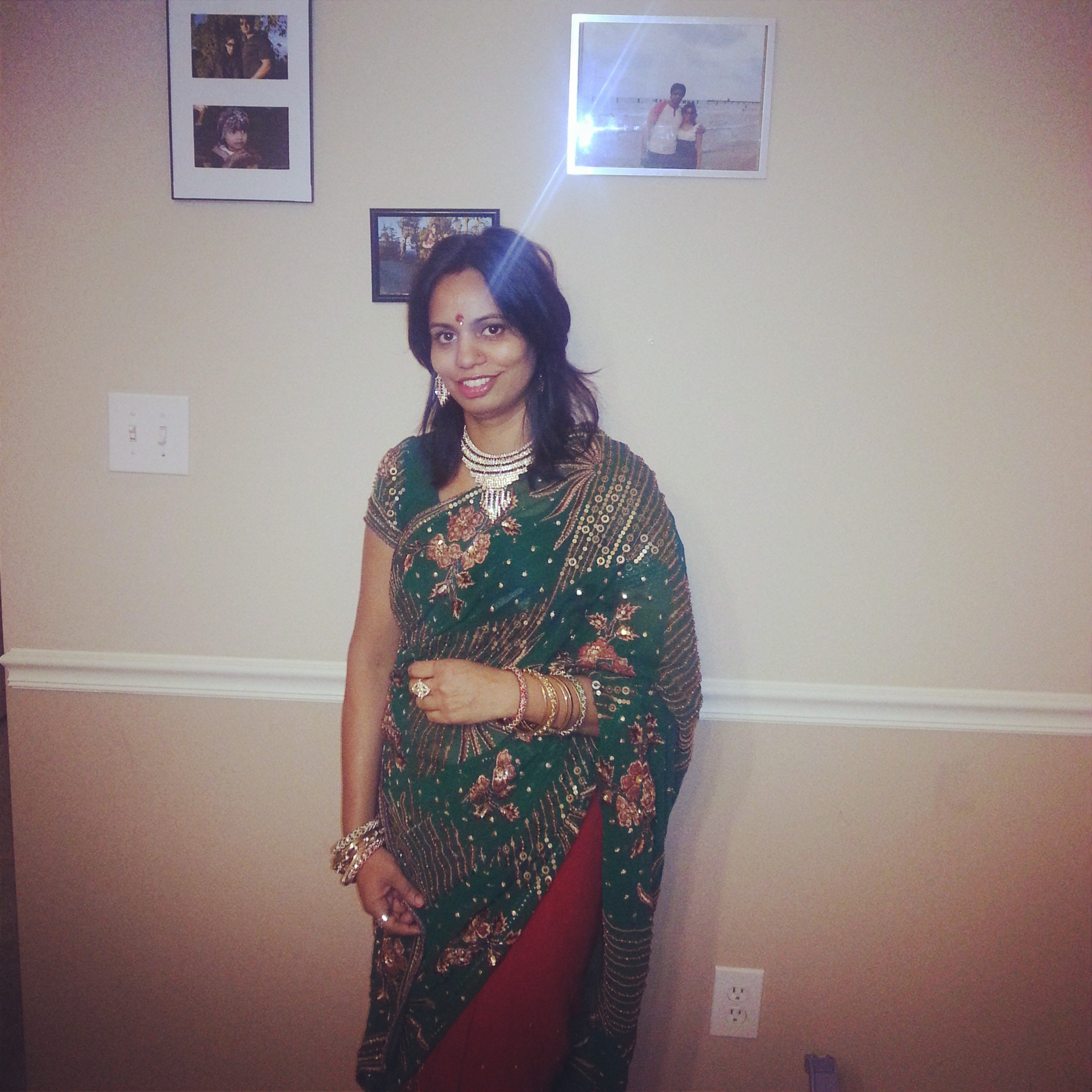 All dressed up for Karwa Chauth