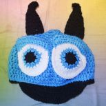 Blue Monster Cap with a Brim