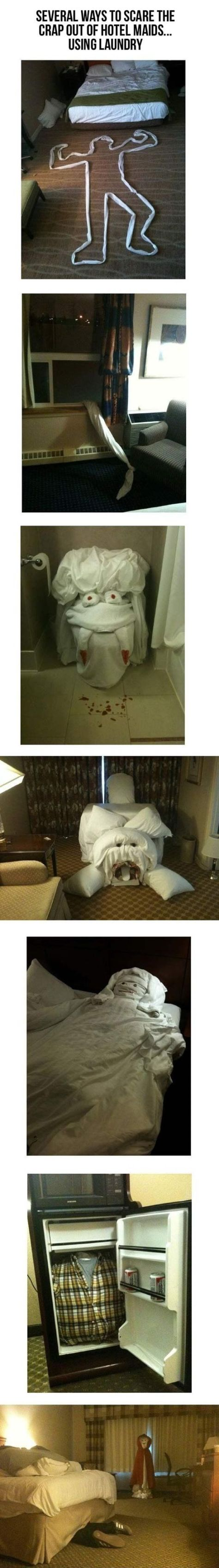 How To Scare The Crap Of Hotel Maids (Compilation)