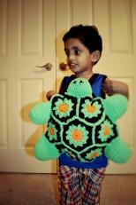 Crocheted Turtle Bag, Renne singh, Abhishek Singh, Otu Singh