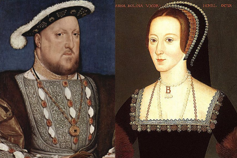 Anne Boleyn with Henry VIII
