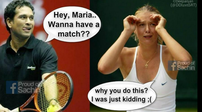 Frolic Friday – Sachin Tendulkar Knows You, Maria Sharapova