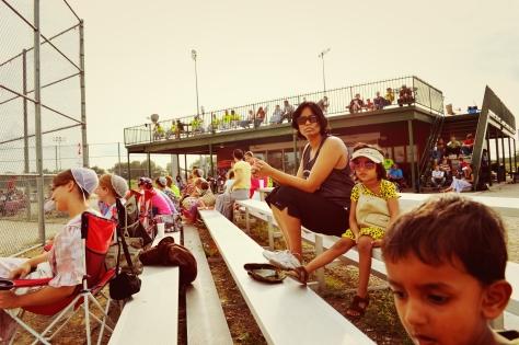 Tisha Singh watching Once A Year Baseball