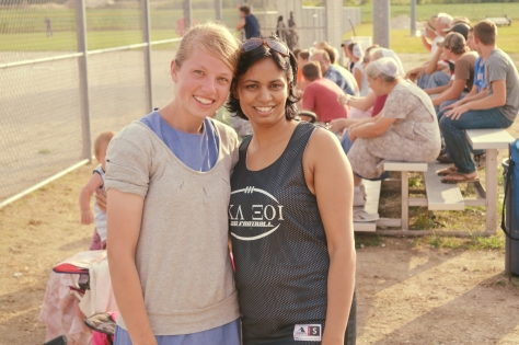 Me with a beautiful Friend @ Once A Year Baseball