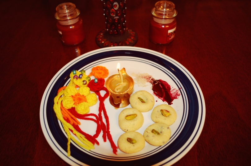 Rakhi Thali with Milk Peda