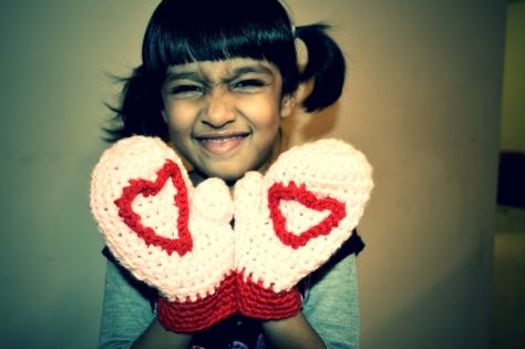 Heart Mittens for Tisha Singh