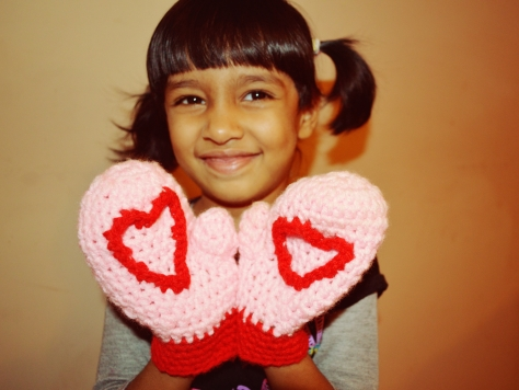 Heart Mittens for Tisha Singh