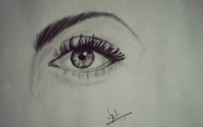 Eye Sketch by Jyoti Singh