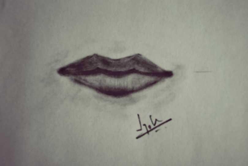 Lips sketch by Jyoti Singh