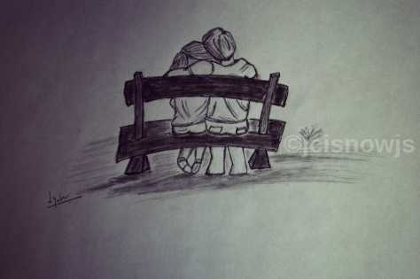 Those days.... sketch by Jyoti Singh