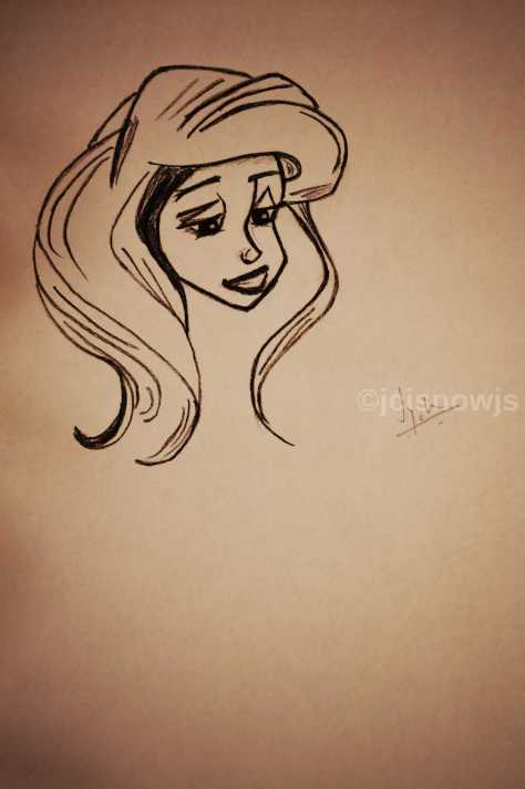 Princess Ariel - Sketch by Jyoti Singh