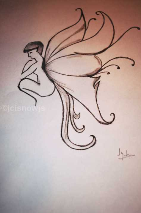 To Fly Or Not - Sketch by Jyoti Singh