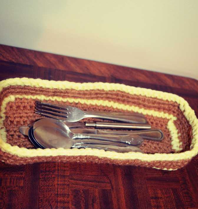 Crochet Spoon Basket