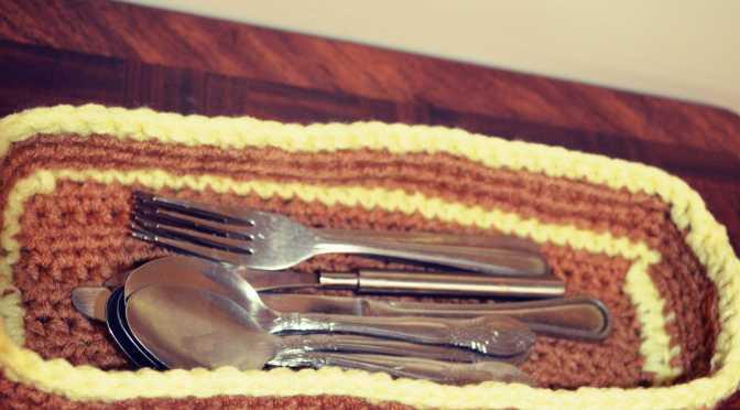 Crochet Spoon Basket