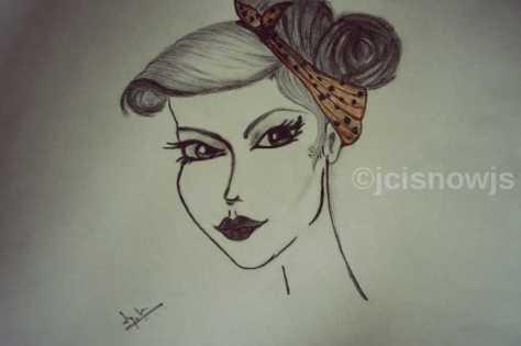 Stare - Sketch by Jyoti Singh