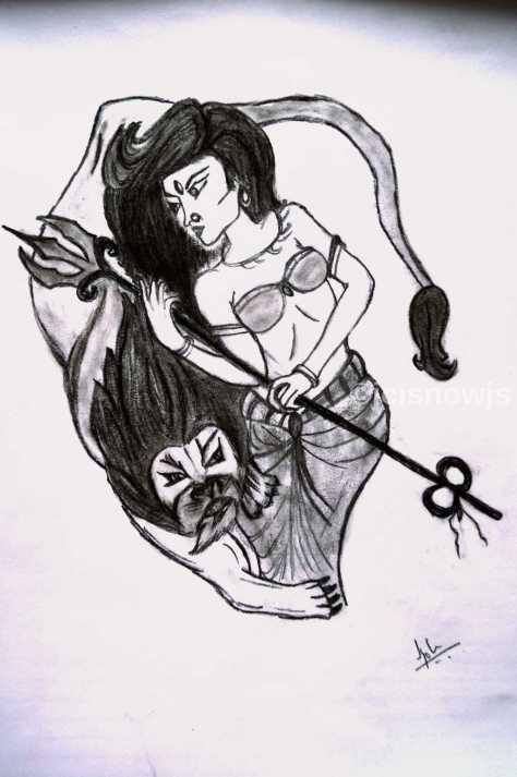 Devi - Sketch by Jyoti Singh