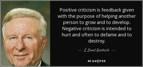 Keep Your Critics Close